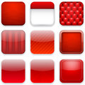Red app icons vector illustration of high detailed apps icon set eps Stock Image
