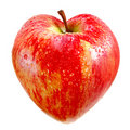 Red apple as a heart Royalty Free Stock Photos