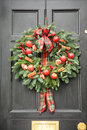 Red apple and chillies wreath Stock Photography