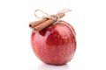 Red apple and cinnamon Royalty Free Stock Photo