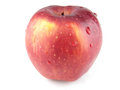 Red apple close up on white background Stock Images