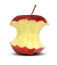 Red apple core Royalty Free Stock Photo