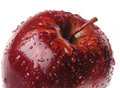 Red apple with drop Royalty Free Stock Photo