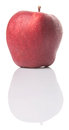 Red apple iii over white background Stock Images