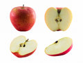 Red apple isolated on white. background. With clipping path Royalty Free Stock Photo
