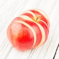 Red apple on old wood background Royalty Free Stock Photo
