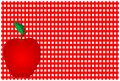 Red Apple Over Plaid Royalty Free Stock Photos