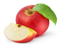 Red apple over white background Royalty Free Stock Images