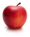 Red apple over white ripe close up isolated Royalty Free Stock Images