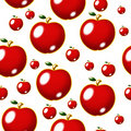 Red apple seamless pattern Stock Image