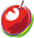 Red apple vector illustration of a Royalty Free Stock Photos