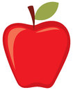 Red apple vector vector Royalty Free Stock Images