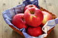 Red apples in a basket Royalty Free Stock Photo