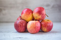 Red apples bunch of focus on front apple Royalty Free Stock Images