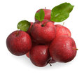 Red apples isolated on white background Royalty Free Stock Photo