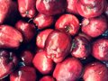 Red apples view of many Stock Image
