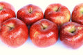 Red apples on white background Royalty Free Stock Photo