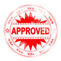 Red Approval Stamp Royalty Free Stock Photography