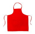 Red Apron Royalty Free Stock Photo
