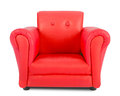 Red armchair isolated on white background Royalty Free Stock Images