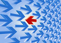 Red arrow against the current Royalty Free Stock Photo