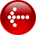 Red arrow button Stock Images