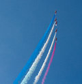 The Red Arrows aerobatic display team Weston Air Festival Weston-s-Mare Somerset Royalty Free Stock Photo
