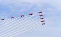 Red arrows british stunt team Royalty Free Stock Photo