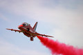 Red arrows display raf fairford bae hawk fast jet royal air force aerobatic team Royalty Free Stock Photography