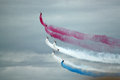 Red Arrows Manoeuvre Royalty Free Stock Photo