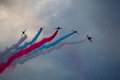 The Red Arrows, officially known as the Royal Air Force Aerobatic Team Royalty Free Stock Photo