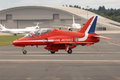 Red Arrows taxiing Stock Photos
