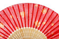 Red asian fan Stock Image