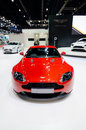 Red aston martin sport car v vantage s in thailand motor show in april at impact arena muang thong thani thailand Royalty Free Stock Image