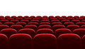 Red auditorium chairs isolated Royalty Free Stock Photo