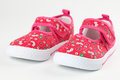 Red baby shoes Royalty Free Stock Photo