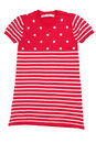Red baby striped knit dress Stock Image