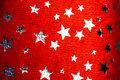 Red background with Christmas stars Royalty Free Stock Photo