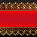 Red background with gold(en) pattern and net Stock Image