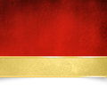 Red background with golden banner - Christmas template Royalty Free Stock Photo