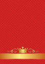 Red background with golden crown Royalty Free Stock Photo