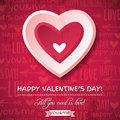 Red background with pink valentine heart and wish wishes text vector illustration Stock Photography