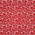 Red background with white hearts Stock Photography