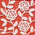 Rose patern on red backround Royalty Free Stock Photo