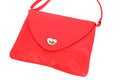 Red bag beautiful woman hand Royalty Free Stock Photography