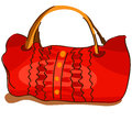 Red bag vector cartoon in on a white background Stock Images