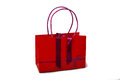 Red bag on the white background Royalty Free Stock Image