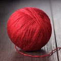 Red ball of threads Royalty Free Stock Photo