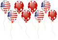 Red balloon of american flag Royalty Free Stock Images