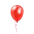 Red balloon with bow isolated on a white background illustration Stock Photos